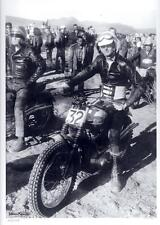 "1957 Bud Ekins Triumph 650cc desert sled Big Bear race Mile 9"" X 12"" repro photo"