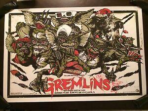 Gremlins Glow In The Dark Christmas Movie Poster Mondo Art ...