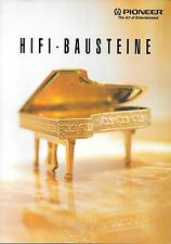 Pioneer Hifi-Bausteine Prospekt Datenblatt Datasheet Catalogue