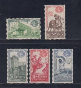ESPANA-1964-NUEVO-MNH-SPAIN-EDIFIL-1590-94-FERIA-NUEVA-YORK