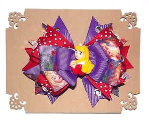 SLEEPING-BEAUTY-5-Layer-Disney-Handmade-Hair-Bow-with-Non-Slip-Alligator-Clip