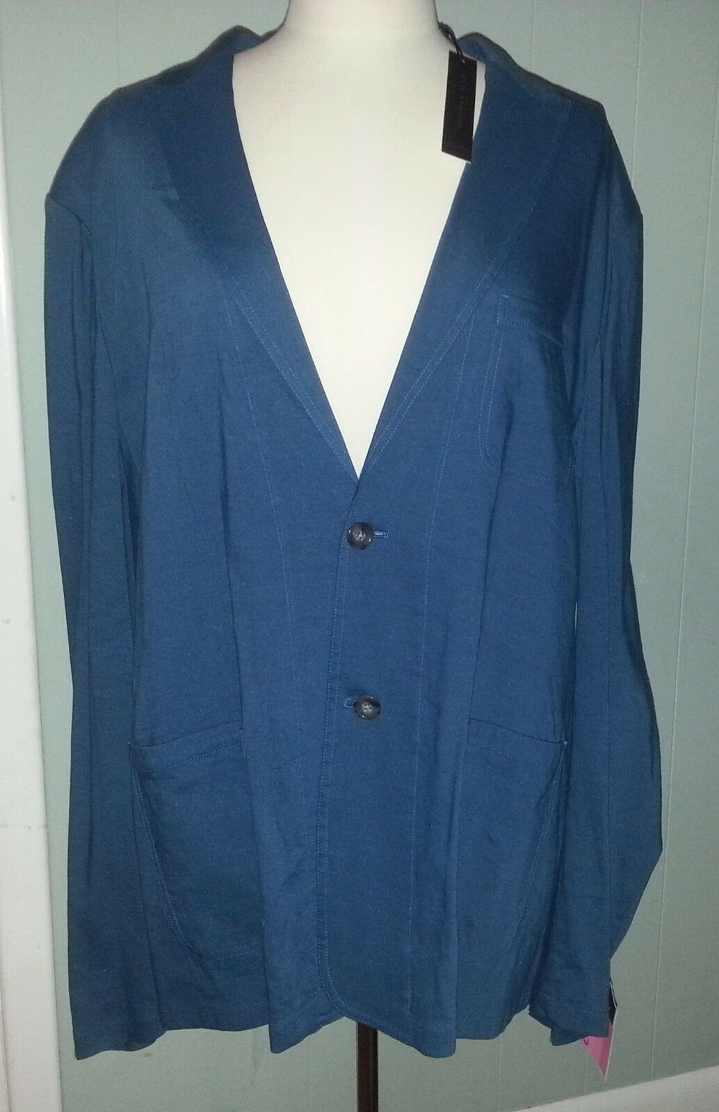 Elie Tahari Sport Coat Miles Outerwear XXL Blau Light Linen Blend 398 NWT h085