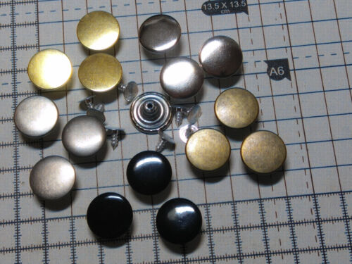 29-Models 17mm APPROX NO SEW HAMMER ON DENIM JEAN BUTTONS -