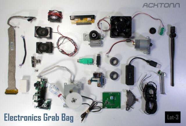 Electronics Computer Components Grab Bag Mixed Parts Lot f/Assorted Devises