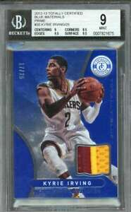 Kyrie-Irving-2012-13-Totally-Certified-Blue-Prime-Mat-30-BGS-9-9-8-5-9-5-9-5