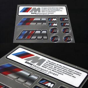 10-Pcs-Set-M-Sport-Performance-Car-Emblems-Sticker-Badge-Decal-All-Series-S156