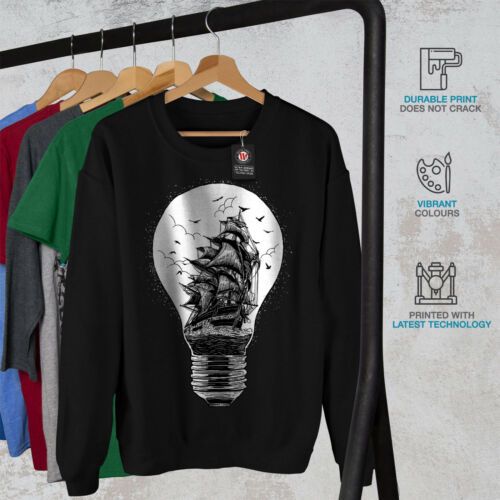 Fashion Black uomo Lightbulb da New Felpa xBvCPn
