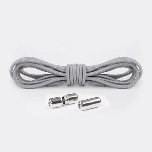 Elastic Round No Tie Metal Lock Buckle Sneakers Shoelaces Shoe Laces Adjustable
