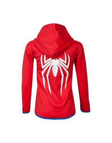 Spiderman Kids Teq Hoodie Red Marvel