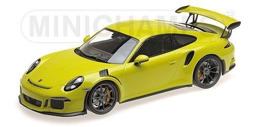 Porsche 911 gt3 rs coupé 2015 lichtgrun 991 minichamps 1,18 155066222 modell