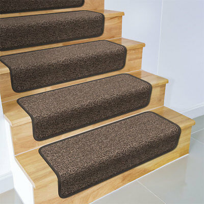 Set Of 15 OVERSTEP ATTACHABLE Carpet Stair Treads 17 X30 PEBBLE GRAY Runner EBay