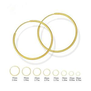 Clever Creolen Ø 20 25 30 40 45 55 60 Mm 750er Gold 18k Vergoldet Gelbgold O2841 Vertrieb Von QualitäTssicherung Brautschmuck