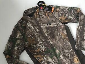 Armour Mock Under Protección Realtree Camiseta Caza Hombre Coldgear Camuflaje fww41qg