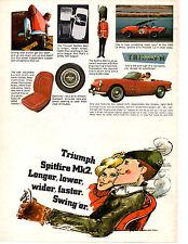 1966 TRIUMPH SPITFIRE Mk2  ~  CLASSIC ORIGINAL PRINT AD