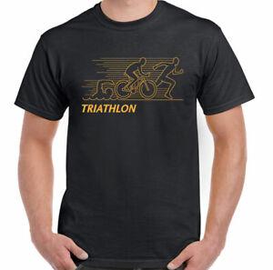 Triathlon-T-Shirt-Mens-Cycling-Running-Swimming-Ironman-Sport-Bike-Kit-OP