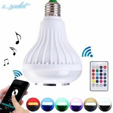 Bluetooth LED music Bulb Smart Music Audio Speaker LED RGB Color Bulb Light Lamp