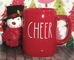 NEW-LL-CHEER-Large-Letter-RED-CHRISTMAS-Mug-amp-Snowman-Rae-Dunn-Magenta-Artisan