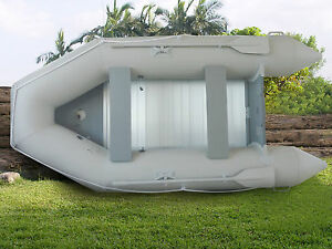 New-1-2mm-PVC-10-5-039-Inflatable-Boat-Tender-Raft-Dinghy-With-Floor-Gray