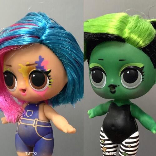 Lot 2 Lol Surprise Dolls BHADDIE /& Splatters Hairgoals S5 Color Change Authentic