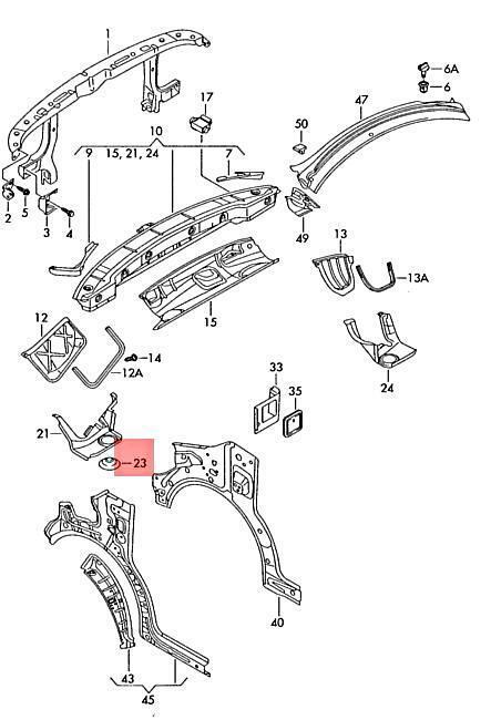 Lt 701711367 Genuine Spring Retainer VW SEAT Campmobile Typ2 Transp