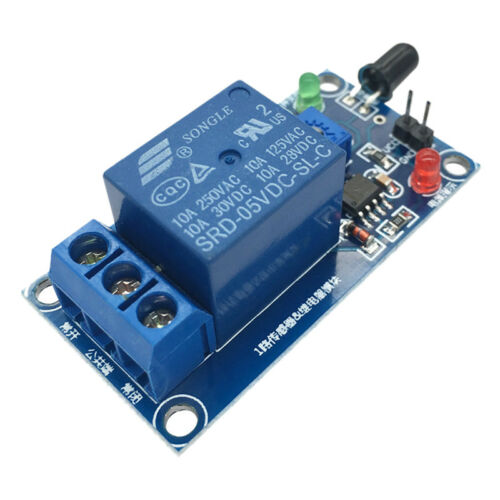 IR Infrared Fire Detector Flame Detection Sensor Relay Module 5V//12Vfor Arduino*