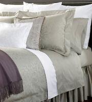 Sferra MADELYN Standard Sham Grey Egyptian Cotton Sateen Jacquard Scroll New