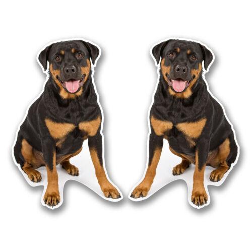 2 X 10 Cm Rottweiler rottie pegatina de vinilo calcomanía Laptop Tablet Auto Perro Regalo # 6296