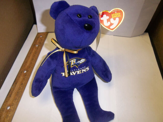 Baltimore Ravens NFL 2015 Ty Beanie Babies Teddy Bear 8 Inch Tailgate Party ed8a6ce24ad6