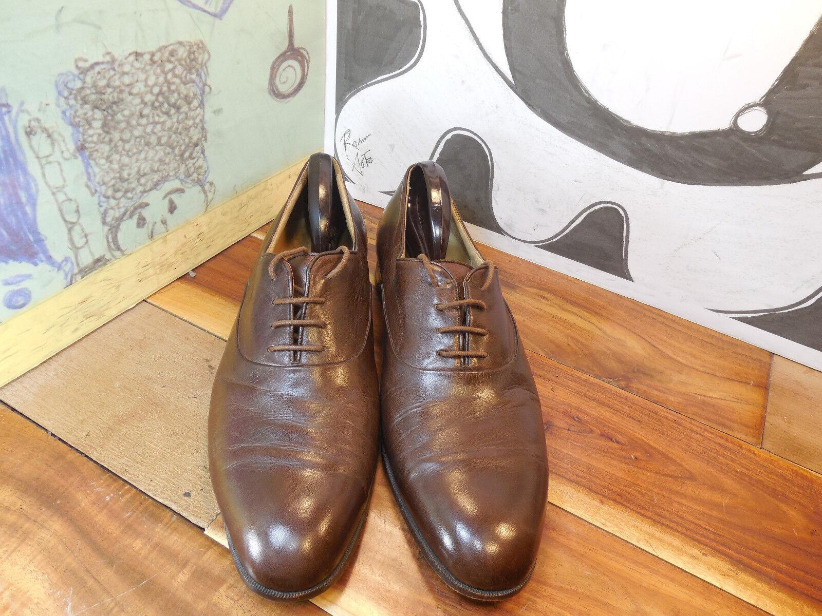 basso prezzo del 40% Neiman-Marcus Marrone Leather Handmade Oxfords Uomo 13N Made Made Made in  Vintage  marche online vendita a basso costo