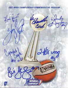 1997-Houston-Comets-team-signed-WNBA-Championship-program-Swoopes-Cooper-Perrot