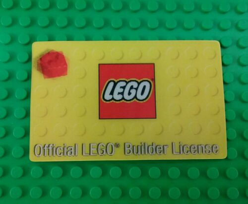 NEW* Lego Licence Official Builders License Card Kids Adults