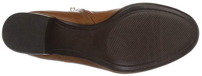 Aldo frialia tamaño 3 36 Cuero tan Real Cuero 36 Mid Tacón Alto botas al Tobillo BNWB 687a62