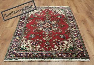 OLD-WOOL-HAND-MADE-ORIENTAL-FLORAL-RUNNER-AREA-RUG-CARPET-135x82CM