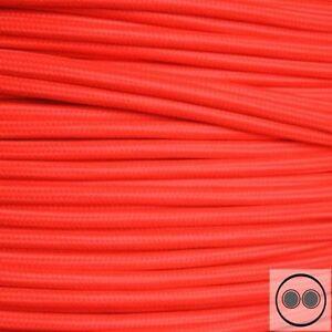 Câbles Textile, Tissu Câble, Couleur Neon Rouge 2 Conducteurs 2 X 0,75 Mmâ² Environ (au Mètre)-afficher Le Titre D'origine Renforcement Des Nerfs Et Des Os