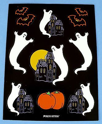 3 Sheets Halloween Haunted House Stickers Ghost Witch Jack o Lantern