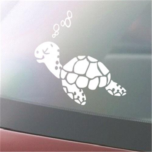 Turtle Car Decal Sticker Fun Car Laptop Window IPad Fun Sticker SO