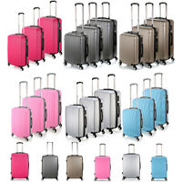 Various Lightweight Luggage Hard 4wheel Abs Suitcase - Pink/grey/rose Red/silver
