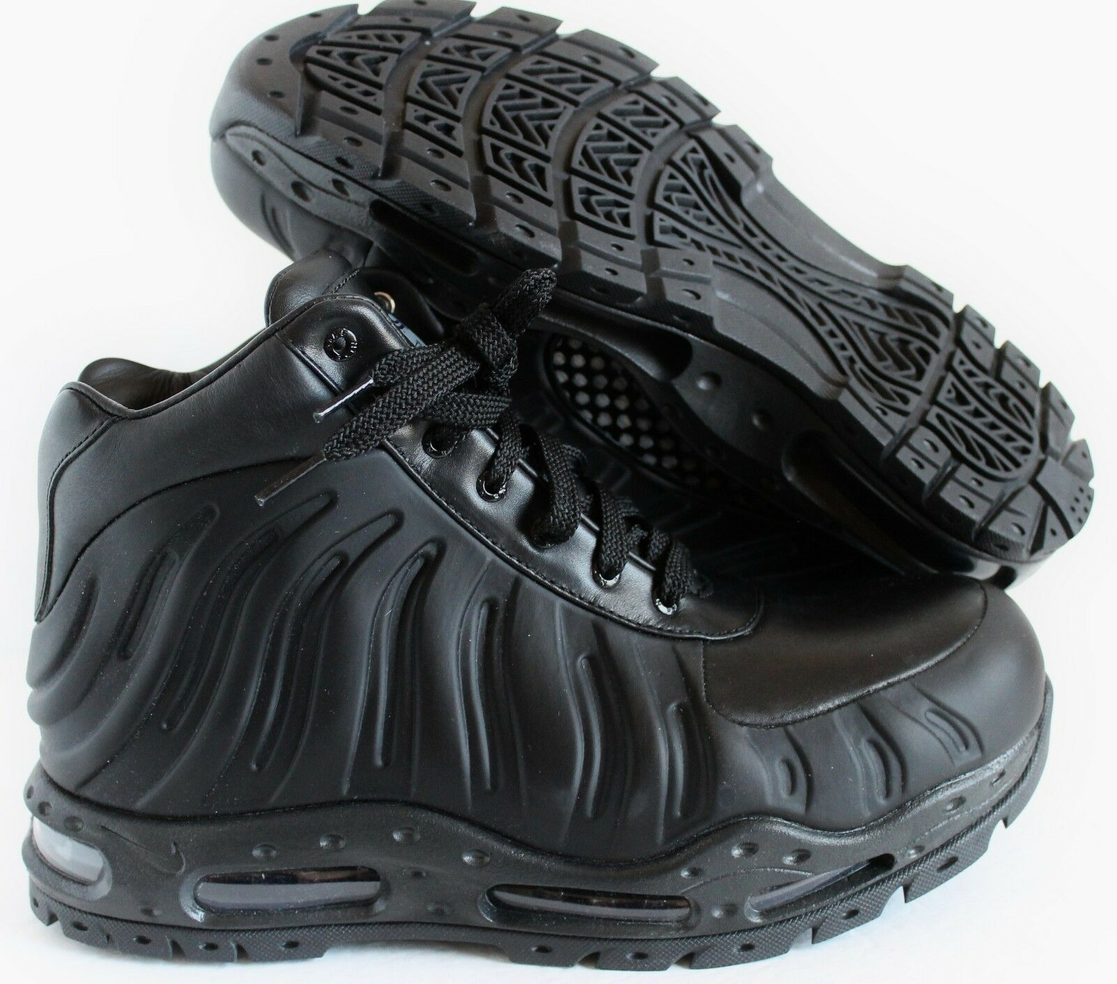 NIKE AIR MAX FOAMDOME FOAMPOSITE BOOTS BLACK-BLACK SZ 10.5 [843749-002]