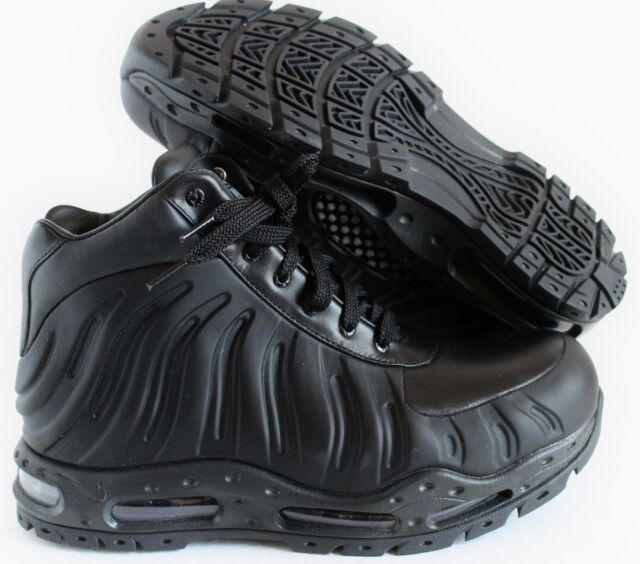 83259baf61b Nike Air Max Foamdome Foamposite BOOTS Mens Size 9 Triple Black 843749 002