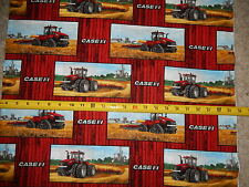 Case Int'l Harvester Blocks tractor farm Plow harvest 10093 pc cotton fabric