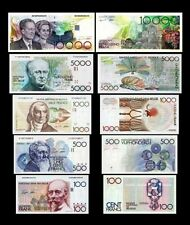 Belgio 5 banconote 1°Serie  (Riproduzione/copy)