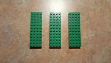 Lego green brick 4x12, part # 4202, lot of 3