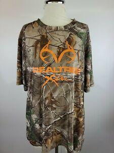 Mens-T-Shirt-Size-Large-42-44-Camo-Silky-Top-RealTree-Extra-Camouflage-Hunting