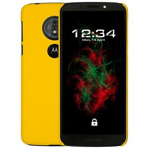 Case-Hard-Rubberised-Yellow-for-Lenovo-Moto-G6-Play-Protective-Case-Cover