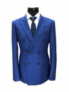 ROYAL-BLUE-PRINCE-OF-WALES-CHECK-DOUBLE-BREASTED-SUIT
