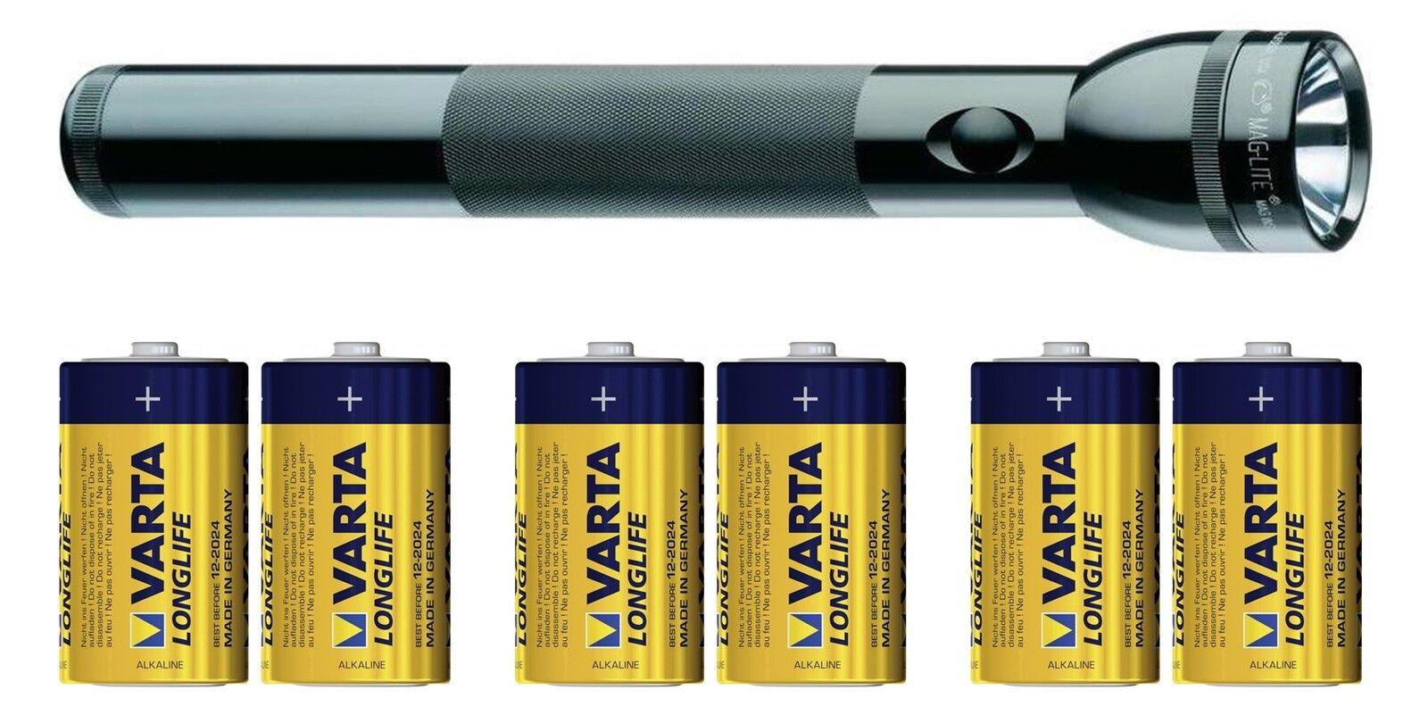 MAG-Lite 3 ST3D016 MAG LED 3 MAG-Lite D Cell Alu Taschenlampe schwarz 860 g + 6 MONO Batt. 9f6f3d