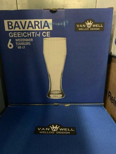 6er Set Weizenbiergläser 0,5 Liter geeicht Hefeweizen Weißbier Weizenglas Glas V