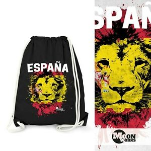 Turnbeutel-EM-WM-Spanien-Loewe-Flagge-Espana-Lion-Flag-Fussball-MoonWorks
