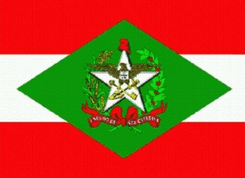 Fahne Flagge Santa Catarina 100 x 150 cm Bootsflagge Premiumqualität