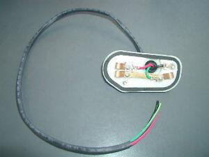porsche 911 69 73 front signal light housing wiring ebay rh ebay com